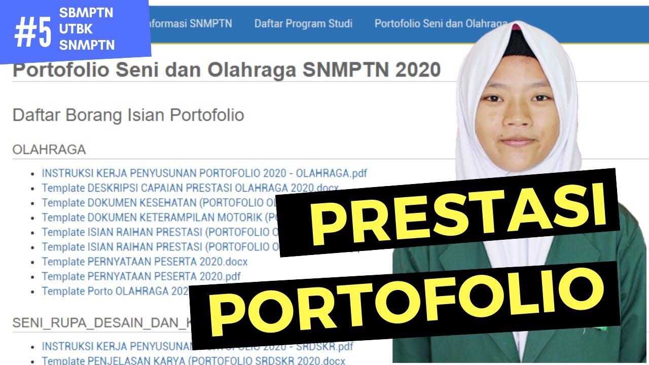 Cara Mengisi Portofolio Prestasi Snmptn Sbmptn 2020 Seni