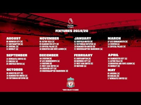 epic 2019 20 liverpool fixtures revealed top 6 fixtures analysed in premier league youtube epic 2019 20 liverpool fixtures revealed top 6 fixtures analysed in premier league