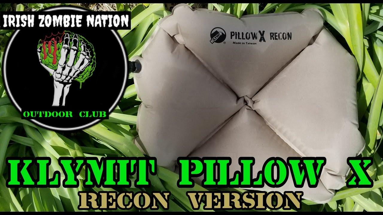 klymit pillow x recon new favorite ultralight pillow for hammock camping