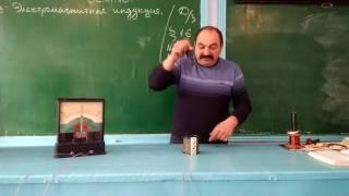 "Фрагмент урока по теме ""Электромагнитная индукция"" 11-Класс"
