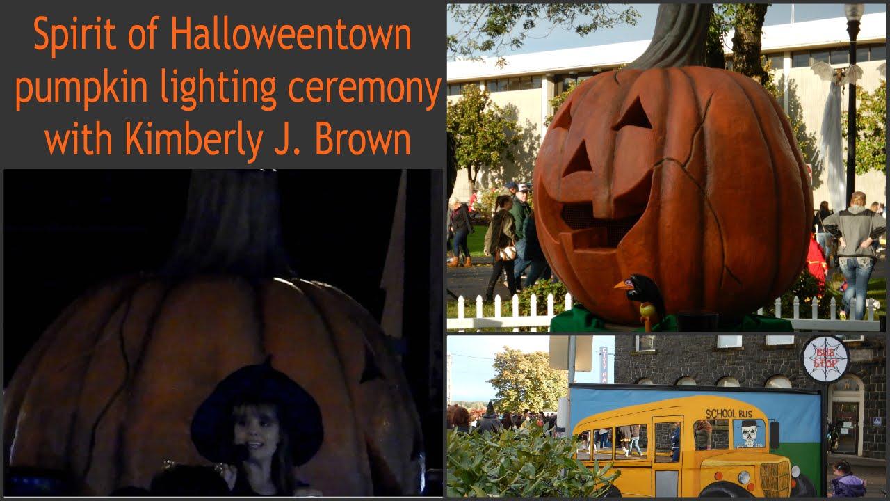 Spirit of Halloweentown pumpkin lighting ceremony with Kimberly J ...