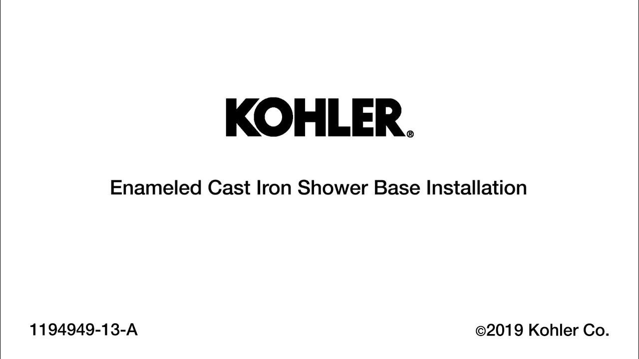 Kohler Enameled Cast Iron Shower Base