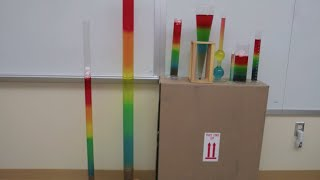 Rainbow density column  -- saltwater // Homemade Science with Bruce Yeany