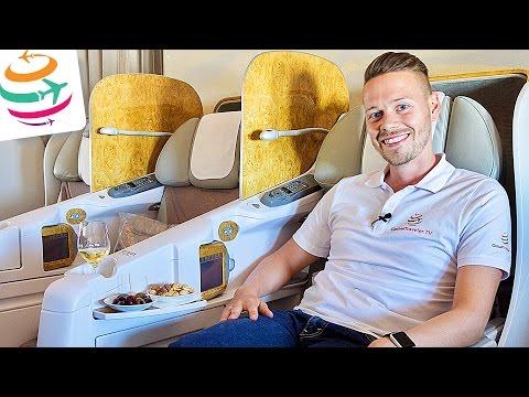 Luxury Emirates Business Class B777-300ER DXB-WAW   GlobalTraveler.TV