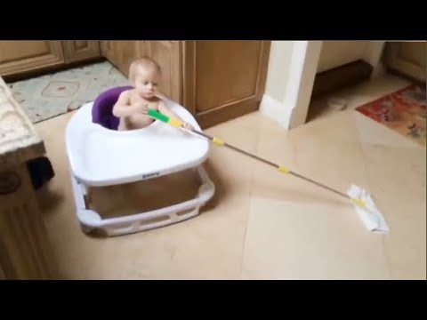 Babies Helps Parents To Do Housework - Youtube