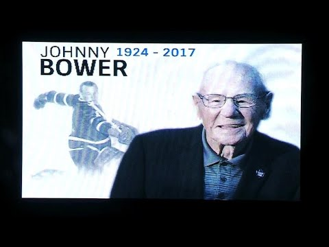 Maple Leafs, Coyotes honour late Johnny Bower with moment of silence