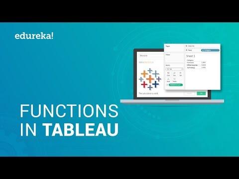 Tableau Functions Tutorial   Tableau Functions With Examples   Tableau Training   Edureka thumbnail