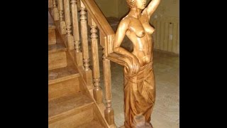 Красивые лестницы в доме. Резные лестницы из дерева.(Красивая лестница в доме украшение интерьера. Еще более привлекательно смотрится - резная лестница. Хороши..., 2016-04-28T17:46:21.000Z)