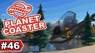 Holz- und Wasserbahn im neuen Bereich | Planet Coaster Let's Play #46