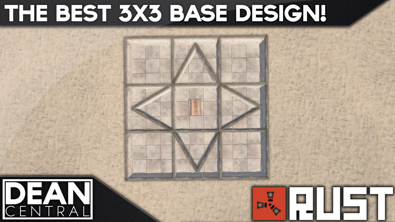 Strongest 3x3 solo base design advanced rust building 10 youtube malvernweather Images