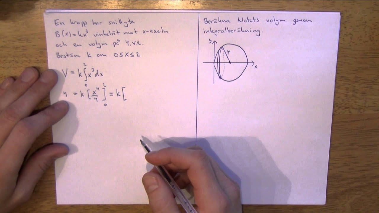 Matematik 4 - Integraler del 6 - Grundläggande volymberäkning