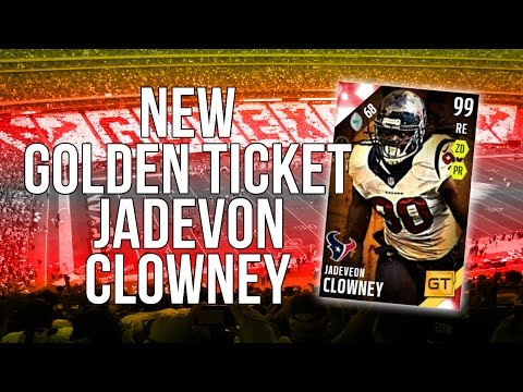 Madden 16 Ultimate Team :: New Golden Ticket Jadeveon Clowney! ::-XBOX ONE Madden 16 Ultimate Team