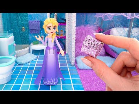 Building a Magical Mini Apartment For Disney Queen Elsa