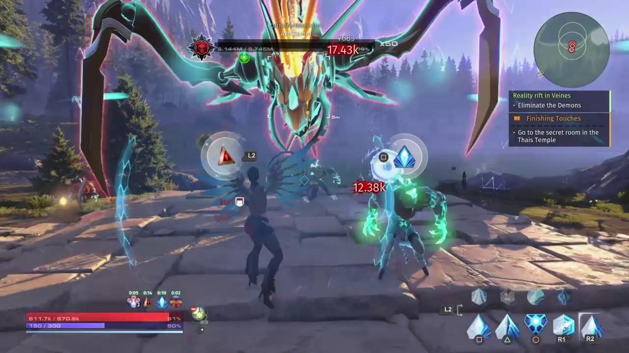 Skyforge PS4 - Veines Reality Rift [Boss] Octhuthu Desecrator + ...
