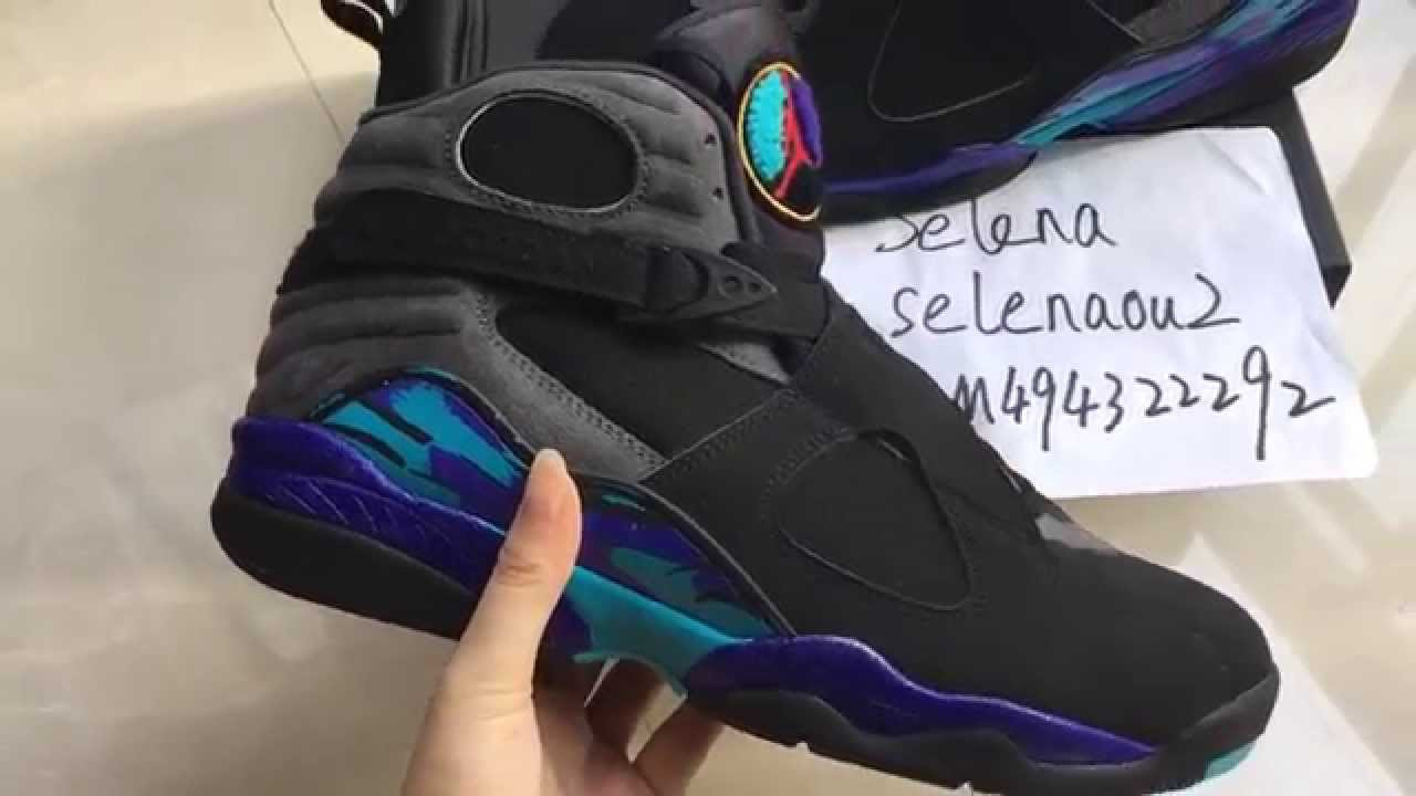 781fba3e305d 2015 Air Jordan 8 VIII Retro Aqua Black Friday from selenakicks ...