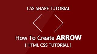 Create Arrow with css - Html Css Tutorial