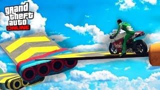 PARKOUR MOTO SKY HARD - GTA 5 ONLINE
