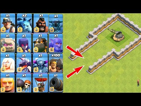 Which Troops Is Best? All Troops Vs Bomb Beach Defense On COC