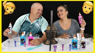 MOM VS DAD TWIN TELEPATHY SLIME  CHALLENGE | SISTER FOREVER