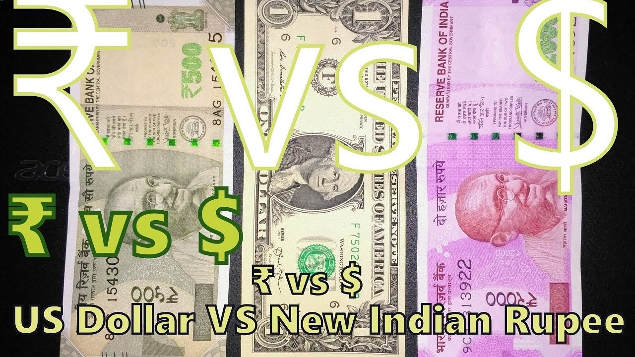 Vs Us Dollar New Indian Ru 2000 500 Notes Hindi