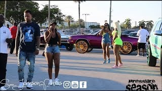 Easter carshow in Palm Beach in HD (Donks, ladies, Gbody, Duallys,baggers, box chevy, Trucks)