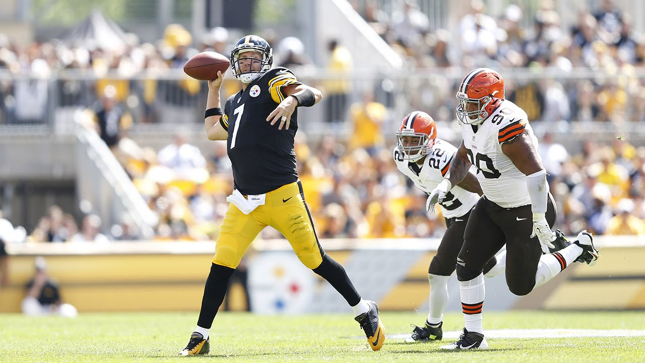 Ben Roethlisberger Escapes Sack And Throws A TD To Antonio Brown Week 1 2014