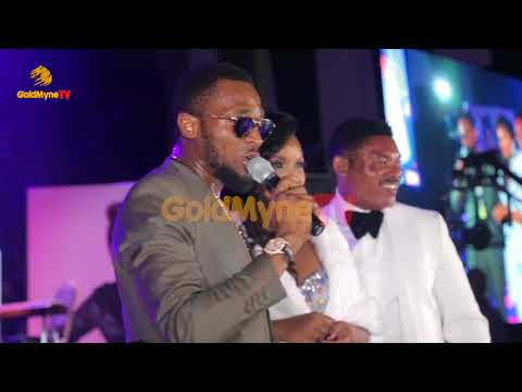 D'BANJ PERFORMS FALL IN LOVE WHILE OMOTOLA AND HUSBAND DANCE
