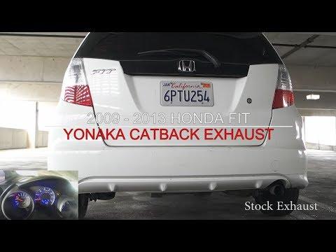 Honda Fit Jazz - Yonaka Catback VS Stock Exhaust Comparison & Install