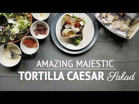 Amazing majestic Tortilla Caesar salad recipe