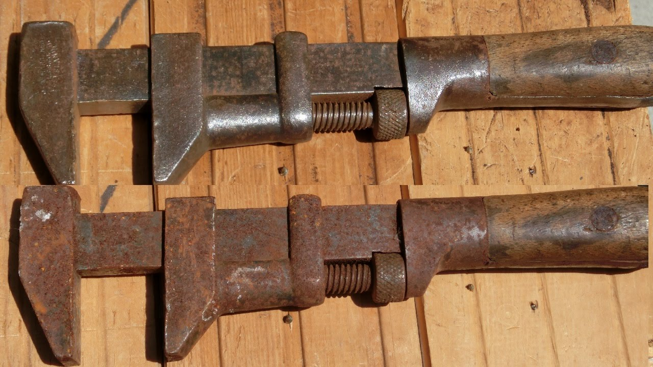 Antique Tool Repair Part1  Light Rust Removal And Wood