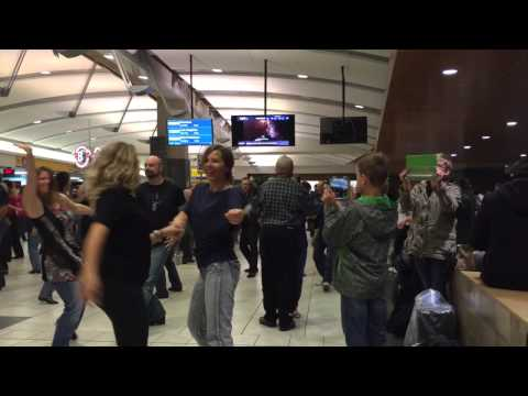 International West Coast Swing Flashmob, Calgary International Airport