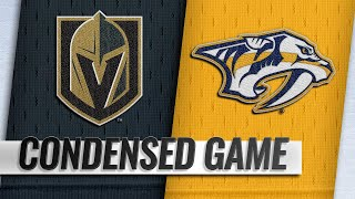 10/30/18 Condensed Game: Golden Knights @ Predators