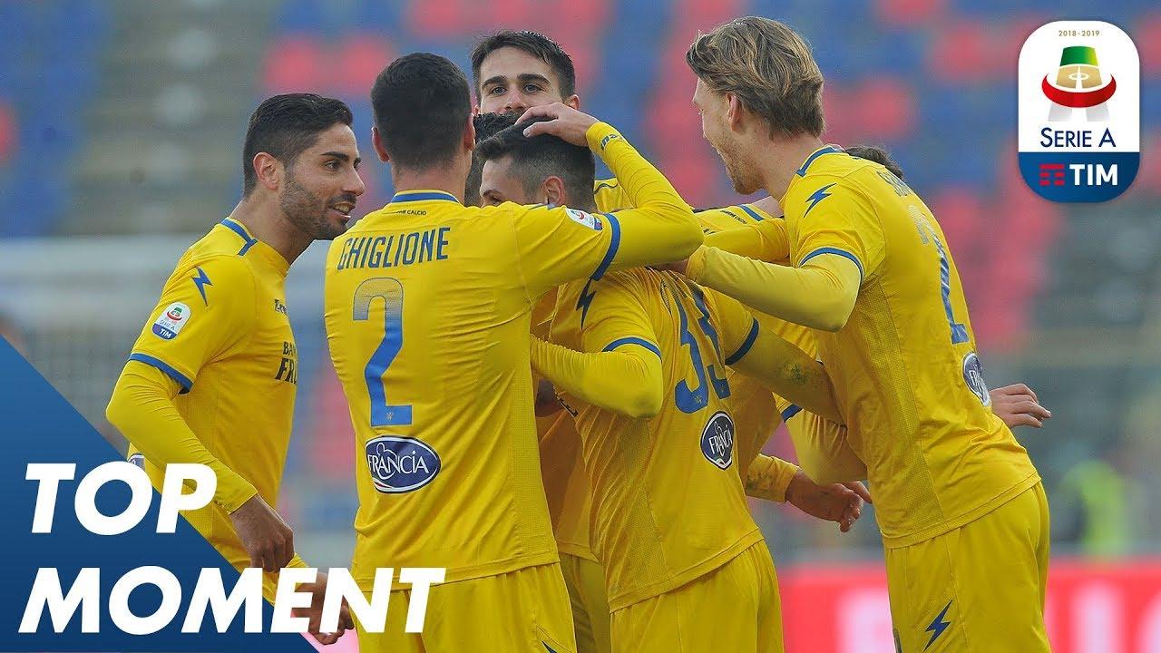 Pinamonti scores the 3rd goal for Frosinone | Bologna 0-4 ...