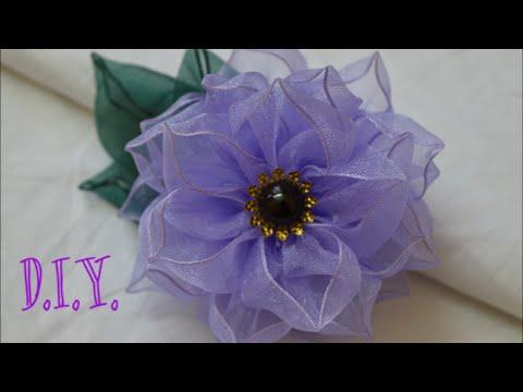 ❀ D.I.Y. Wired Organza Flower   MyInDulzens ❀