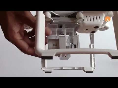 Install Phantom 3 Gimbal Lock Gimbal Lock onto Drone
