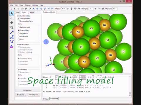 Vesta:Crystal Structure of NaCl - YouTube