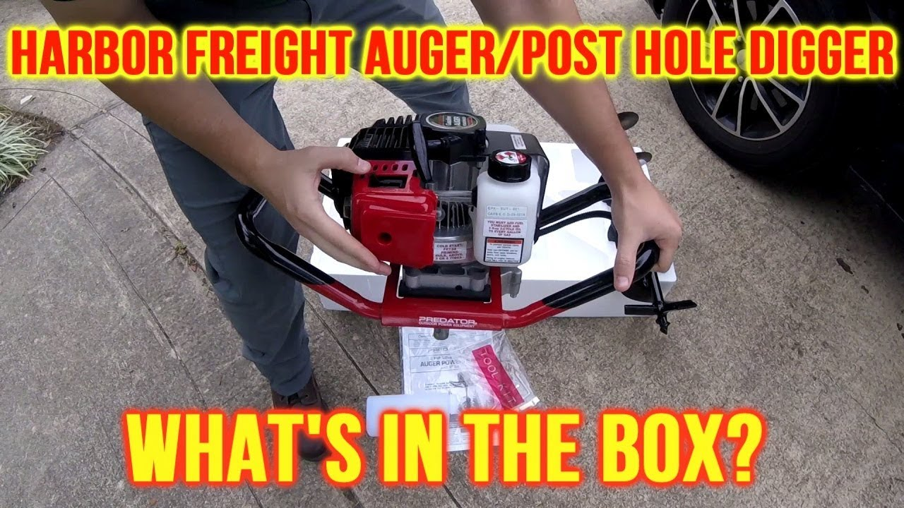 Harbor Freight Auger Post Hole Digger Unboxing Initial Thoughts Youtube
