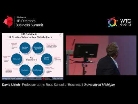 HR Directors Business Summit 2015: David Ulrich