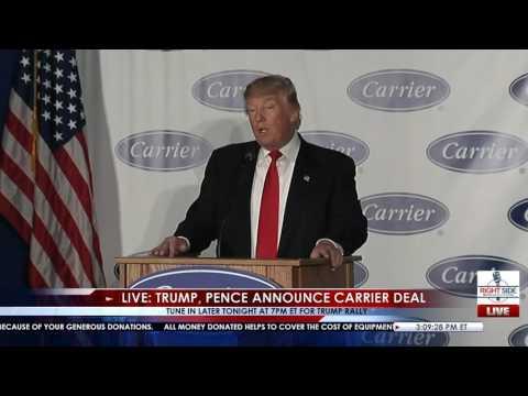 Full Speech: President Elect Trump Carrier Plant Announcement 12/1/16