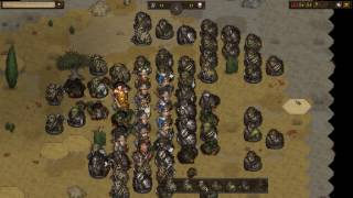 Battle Brothers: Battle against an orc army (71 orcs)
