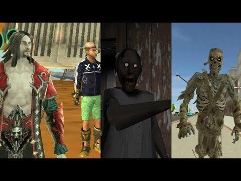 ► Multiple Walkthrough By Games Hole- Vegas Crime Simulator Vs Granny Vs Mummy Vs Vampire Night Soul