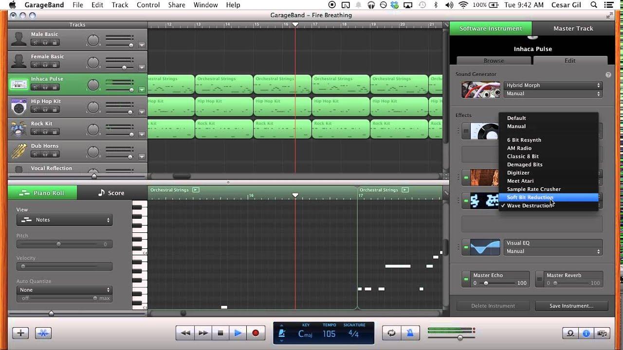 How to make 8bit music in older version garage band 2014 edition