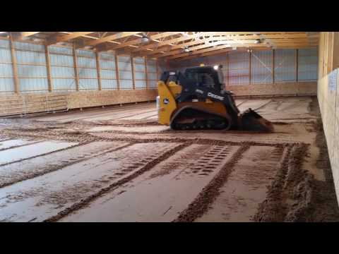 DIY Horse Barn Arena Sand Footing