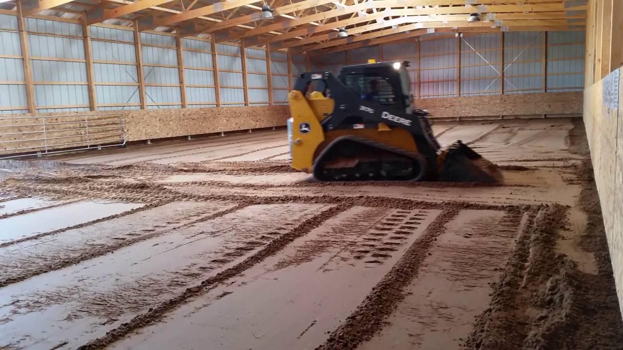 Diy Horse Barn Arena Sand Footing Youtube