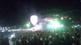 Latern Balloon Firework Festival Taunggyi 2012 (fail)