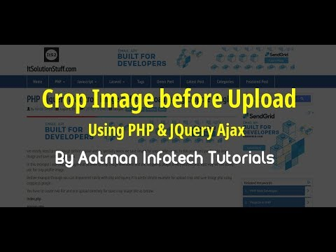 PHP - jquery ajax crop image before upload using croppie plugin