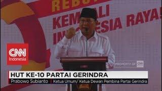 Download Video (FULL) Pidato Prabowo Subianto di HUT Ke-10 Partai Gerindra MP3 3GP MP4
