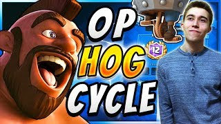 71% WIN RATE! Best Hog Rider Control Deck  — Clash Royale