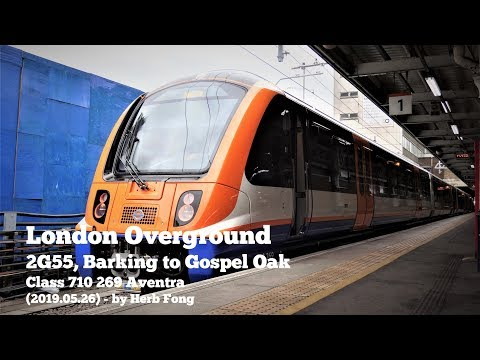 London Overground | Ride On Class 710 269 Aventra From Barking To Gospel Oak (brand New!)