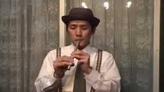 hatao playing Irish Tin whistle ★ティン・ホイッスルの演奏